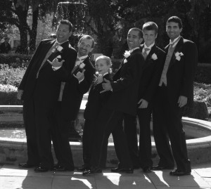 Weddings15 B&W Ushers Outdoor